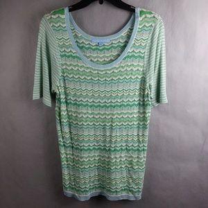 Antonio Melani Short Sleeve Shirt Womens Size L